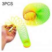 3 PCS Colorful Slinky Toy Rainbow Circles, Color Al Azar Entrega