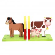 Primary Products Ltd Serre-Livres Happy Farm Multicolore