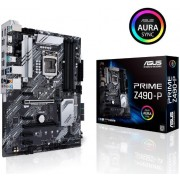 Intel® Z490 (LGA 1200) ATX motherboard with dual M.2, 11 DrMOS power stages, 1 Gb Ethernet, HDMI, DisplayPort, SATA 6Gbps, USB 3.2 Gen 2, Thunderbolt™ 3 support, and Aura Sync RGB Lighting