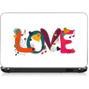 VI Collections LOVE IN MULTI COLOR SIMBLE pvc Laptop Decal 15.6