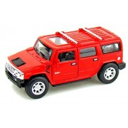 Kinsmart 1:40 Scale 2008 Hummer H2 SUV Scale Die-Cast Car with Openable Doors & Pull Back Action