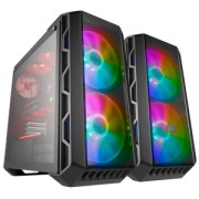 "Carcasa COOLER MASTER Middle-Tower ATX, MasterCase H500 ARGB, w/ RGB controller, tempered glass, 2* 200mm RGB LED & 1* 120mm fan (incluse), I/O panel, grey ""MCM-H500-IGNN-S01"""
