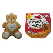 Teddy bear soft toy friend for friends pizza for sister /brother/women/kids /36cm by unique indian craft