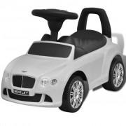 vidaXL Детска кола за яздене Bentley, бяла