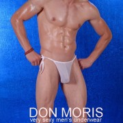 Don Moris Fantasy Sheer Tie Side Bikini Underwear White DM080879