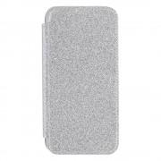 Shop4 - iPhone 11 Pro Hoesje - Book Case Glitters Zilver