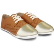 20 Dresses Gold And Glory Sneakers(Brown, Gold)