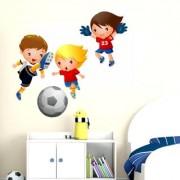 wall dreams Nursery Kids playing football Sports Sticker