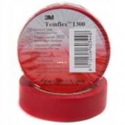 3M Tempflex 1300 20mx19mm PVC, elektromos szigetelőszalag, piros