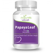 Natures Velvet Lifecare Papaya Leaf Extract 500mg 60 Veg Capsules