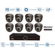 AHD Kamerové systémy - 8x kamera 1080P s 40m IR a DVR