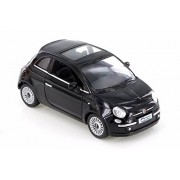 Kinsmart Fiat 500, Black 5345D - 1/28 Scale Diecast Model Toy Car (Brand New but No Box)