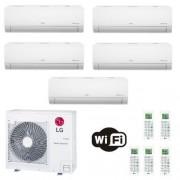 LG Condizionatore Penta Split 7+7+7+7+18 Btu Libero Smart Inverter R-32 MU5R30.U40 2.0+2.0+2.0+2.0+5.0 kW WiFi