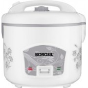 Borosil BRC18MPB24 Rice Cooker, Food Steamer(1.8 L, White)