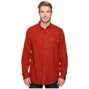 Marmot Hobson Flannel Long Sleeve Shirt Dark Rust Heather