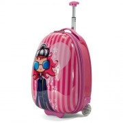 Benzi trollis bőrönd gyerekeknek - lányos, csíkos