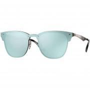 Lentes De Sol Ray-Ban Blaze Clubmaster RB3576N 90391U -Bronce /Azul Plata Espejado