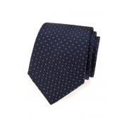 Pánská kravata tmavě modrá s barevnou nití Avantgard 559-1608