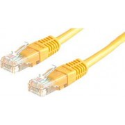 Kabel mrežni Roline UTP Cat 5, 1.0m, (24AWG) High Quality, žuti