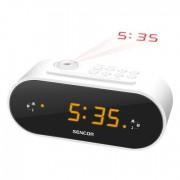 Radio alarm Sencor SRC 3100 W, sa projektorom
