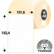 101,6 * 152,4 mm-es, 1 pályás direkt termál etikett címke (400 címke/tekercs)