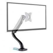 LDT09-C012USB Monitor-Tischhalterung LED LCD 2 x USB inkl. Montage-Kit