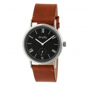 Simplify The 5100 Leather-Band Watch - Silver/Black/Camel SIM5106