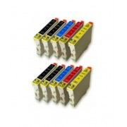 Printflow Compatível: Pack 10 Tinteiros Epson T0611/2/3/4