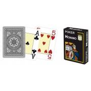 Modiano 4 rohy 100 % plastové karty - čierne