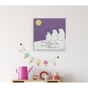 MagisWall slike na platnu Dječje Oči ljubičasta