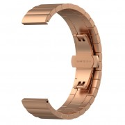 Solid Stainless Steel Link Chain Watch Strap for Huawei Smart GT - Rose Gold