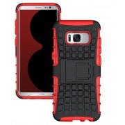 Red Heavy Duty Hybrid Kickstand Defender Case For Samsung Galaxy S8 Plus