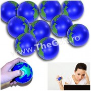 Set 10 mingi antistres, in forma de glob pamantesc