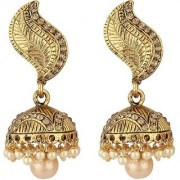 Jewels Gehna Traditional Alloy Party Wear Wedding Jhumka Jhumki Earring Set For Women Girls