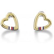 Tommy Hilfiger Cercei aurii din oțel în formă de inimă TH2700910