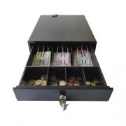 Сейф за пари / касово чекмедже CDE300BK, метален, черен