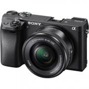 Sony Alpha A6300 + 16-50mm F/3.5-5.6 E PZ OSS - Nero - MENU' INGLESE - 2 Anni Gar. in Italia