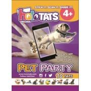 HoloTats Pet Party - Holographic Augmented Reality Temporary Tattoos For Children & Adults. Great For Kids Parties and Gift Bags (Set of 10)