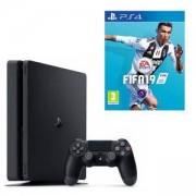 Конзола PlayStation 4 Slim 500GB Black, Sony PS4+Игра FIFA 19 за PlayStation 4 - PS4