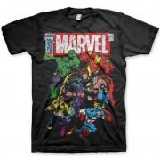 Marvel Zwart t-shirt met Marvel personages voor heren