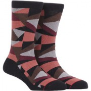 Soxytoes The Geometrics Black Cotton Calf Length Pack of 1 Pair for Men Formal Socks (STS0021A)