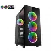 Кутия FSP CMT340, ATX/MicroATX/ITX, 2x USB3.0, Addressable RGB, черна, без захранване