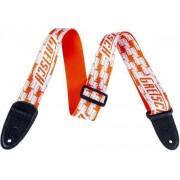 Gretsch Strap Double Penguin Orange/White
