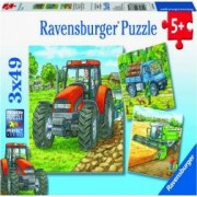 PUZZLE UTILAJE AGRICOLE 3x49 PIESE Ravensburger