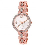 Stainless Steel Copper Chain Wrist Watch for Women