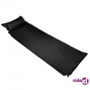 vidaXL Zračni madrac 6 x 66 x 200 cm Crni jastuk na napuhavanje