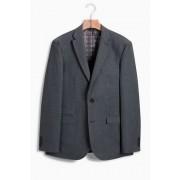 Mens Next Regular Fit Check Wool Blend Suit: Jacket - Grey