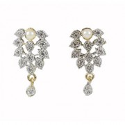 SPERO Stylish Fancy Party Wear american diamond Gold Plated Earrings for Women and Girls