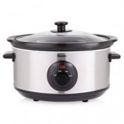 Oala electrica Slow cooker Swan SF17030NS/S, Capacitate 6.5 Litri, Vas ceramic, Putere 320W
