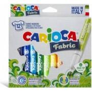 Carioca pentru textile CARIOCA Fabric varf gros 6mm 12 culori-cutie